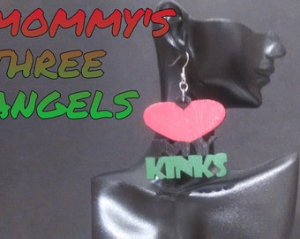 "Natural Hair ""Love My Kinks"" Statement Earrings READY TO SHIP"