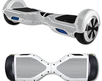 Skin Decal Wrap for Self Balancing Scooter Hoverboard unicycle Gray Chevron