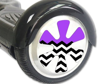 Skin Decal Wrap for Hoverboard Balance Board Scooter Wheels Purple Chevron