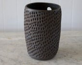 Sgraffito Wall Vase / Raw Walnut