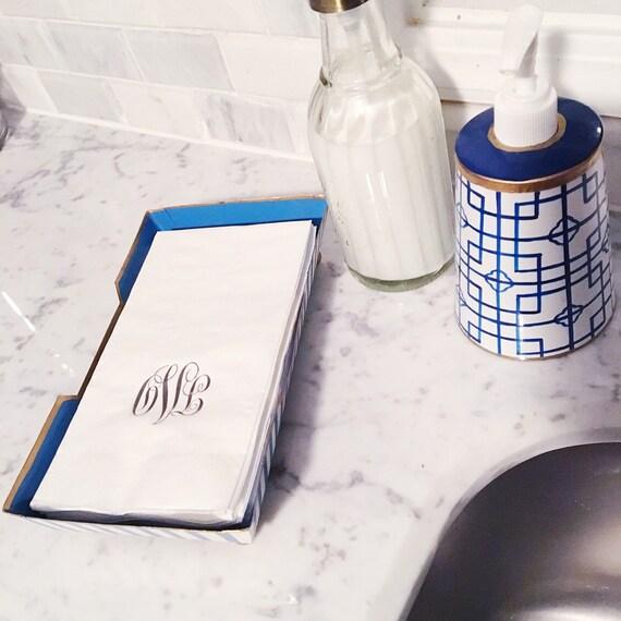 guest towels, monogrammed guest towel, reception guest towels, wedding napkins, script monogram, hostess gift, hand towels