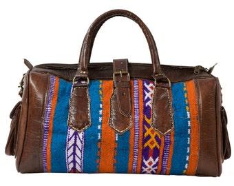 Moroccan Kilim Weekender Duffel Bag