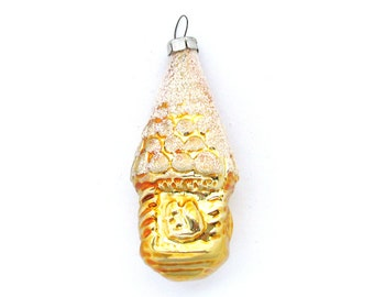 Squirrel House, Soviet Christmas tree decoration, Glass ornament, New Year, Russian Toy, USSR, Soviet Union, 1970s, 1980s, 70s, 80s