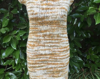 Dress, wool dress, hand knitted dress, Woman dress