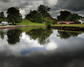 A Storm To Come, original fine art photography, print, scotland, callander, river, water, nature, landscape, teith, cloud, dark, highlands