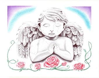 Prison Art, Stone Angel