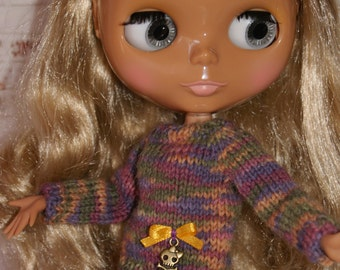 Hand Knitted Sweater for Blythe