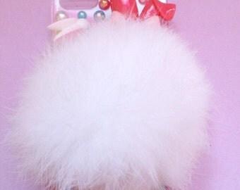 Kawaii bunny pompom iphone 5 case