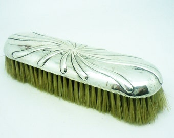 Silver Backed Brush, Sterling, Antique, Hallmarked London, 1803, Clothes, Georgian, English, Phipps & Robinson, REF:298U