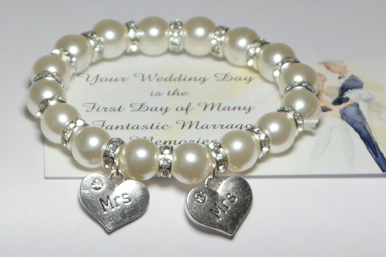 What To Get A Gay Couple For A Wedding Gift: Mrs And Mrs Bracelet Lesbian Couple Lesbian Wedding Gift