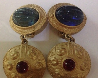 Vintage Carlos Falchi Clip Earrings
