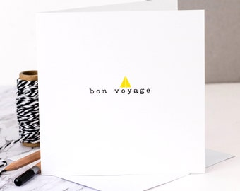 Leaving Card; 'Bon Voyage'; Good Luck On Your Travels Card; Off Travelling Card; GC367