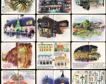 Walt Disney World Sketchbook Prints