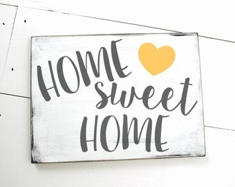 Home Sweet Home Wood Sign with Heart
