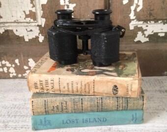 Vintage Binoculars, Black Metal, Adjustable, Industrial Chic, Cabin Decor, Cottage Decor