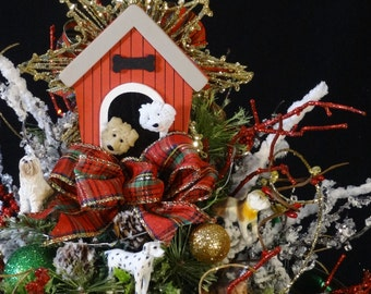 Teddy Bear Nutcracker Decorated Christmas TreeLighted