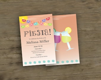 Fiesta Themed Bachelorette Party Invite