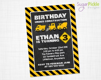 Construction Party Invitation, Construction Invitation, Construction Birthday Invitation, Construction Party, Construction Birthday