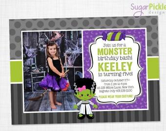 Halloween Photo Invitation - Halloween Birthday Invitation - Monster Mash Invitation - Halloween Party Invitation - Monster Invitation