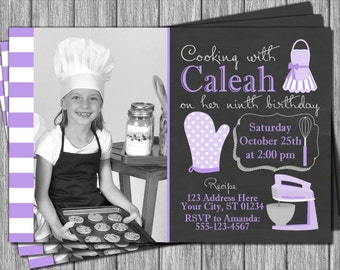 Cooking Party Invitation - Cooking Birthday Invitation - Cooking Invitation
