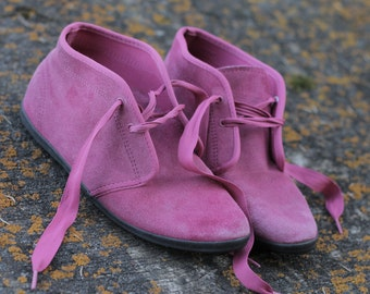 Vintage Keds Fuchsia Suede Ankle Boots
