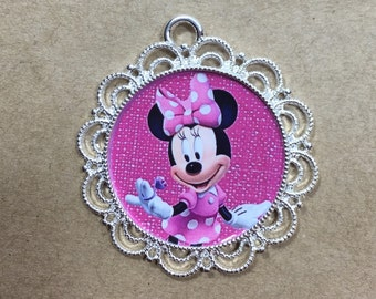 Minnie Mouse  Pendant Minnie Charm Necklace Pendant