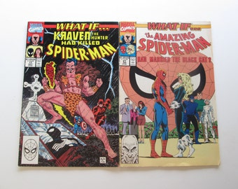 What if....? Spider-man comics, 1990-91. Lot of 2. (Mar7)