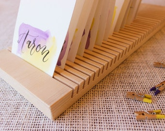 Card and envelope drying rack, holds 18 cards