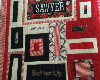 Custom Made Nursery Bedding with Quilt