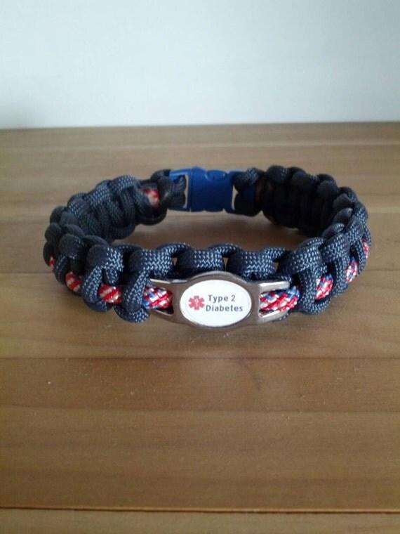 us navy diabetes paracord alert bracelet diabetes