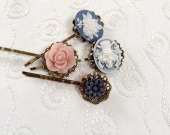 Clips Fairy, Skull An Floral Bobby Pins
