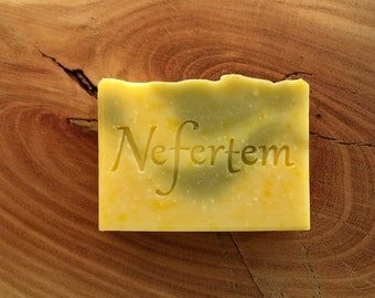 Soap Tea Tree, Lavender and Clary Sage Essential Oil Soap with Organic Ingredients and Grass Fed Tallow - Moisturizing bar soap