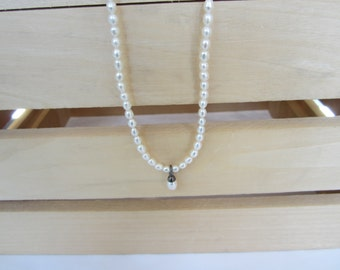 Pearl Necklace, Fresh Water Pearls, Silver and Pearls, Wedding Jewellery, June Birthstone