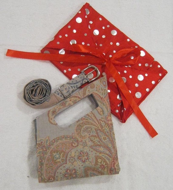 Sewing Pattern Gift set: 3 pattern bag and belt combo