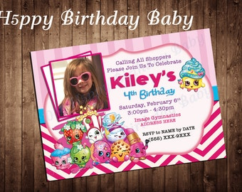 Digital File Only *** Customizable Shopkins invite