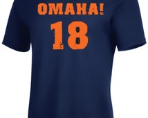 Omaha! 18 Peyton Manning Denver T shirt up to 5XL /Long sleeve