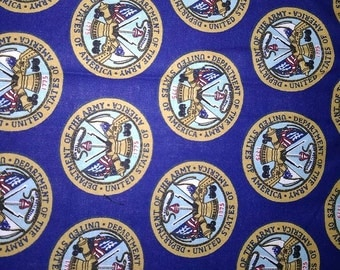 United States Army Vintage Cotton Quilting Fabric