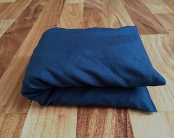Navy Blue Cherry Pit Heating Pad, Hot or Cold Therapy Pack, Microwaveable