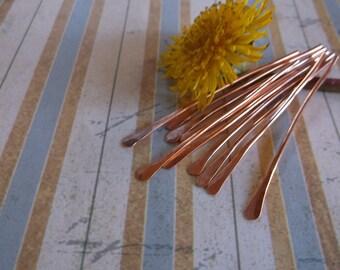Copper 18g paddle pin bead pins 10 pins 2 inch pins