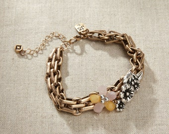 Jim Shore Jewelry - Floral Chain Bracelet