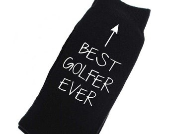 Golfer Socks Mens Black Socks Best Golfer Ever Fathers Day Present Birthday Christmas Uncle
