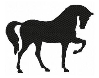 Silhouette Horse...Solid Fill Machine Embroidery DESIGN NO. 674