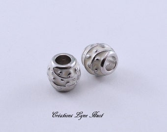 Choose 1, 3 or 5 European style charm beads tibetan silver, white color !