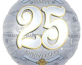 25th Anniversary Mylar Foil Balloon