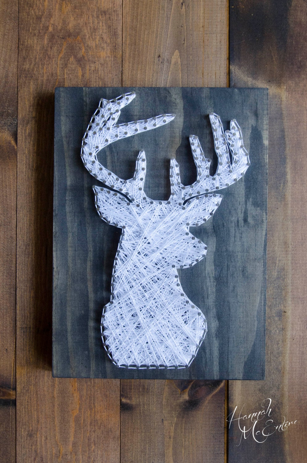 deer head string art hunting decor hunting gifts gifts. Black Bedroom Furniture Sets. Home Design Ideas