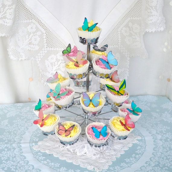 Butterfly Wafers Cake Decoration : Edible Butterflies 3D MINIx44 Wafer Rice by WicksteadsEatMe