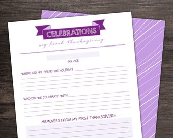 ADD-ON PAGE: Holiday Pack - Baby Book - Baby Journal - Memory Book - Baby Album