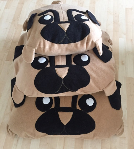 Cute Dog Pillow Beds : COVER Pug pillow dog bed pouf pugs cute