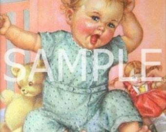 Digital Download File *Vintage Baby* 10750