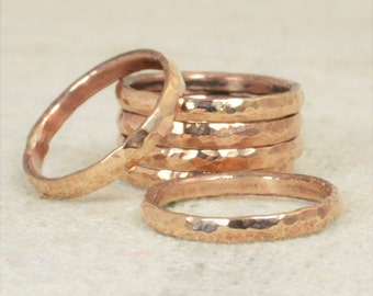 Super Thick Stackable Bronze Ring(s), Bronze Rings,Stackable Rings, Bronze Ring, Hammered Ring, Bronze Band, Arthritis Ring, Bronze Jewelry